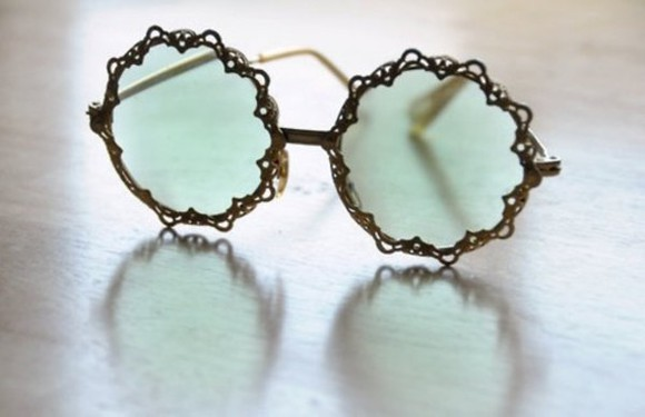 sunglasses hippie hipster indie glasses round sunglasses flowery