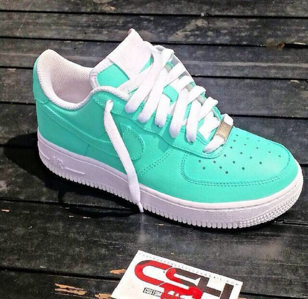 new concept 06135 d3810 shoes nike air force 1 turquoise air max nike air nike nike sneakers nike  air force
