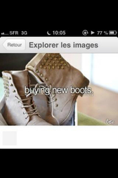 shoes,boots,studs,studded shoes,brown leather boots,brown shoes,lace shoes
