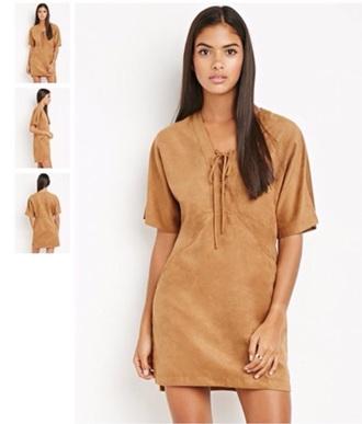 dress camel suede forever 21