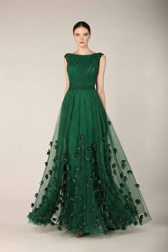 dress green gorgeous cool prom