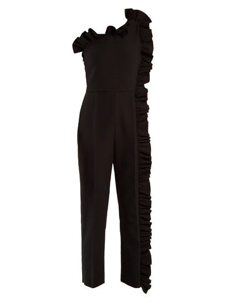 MSGM jumpsuit ruffle black