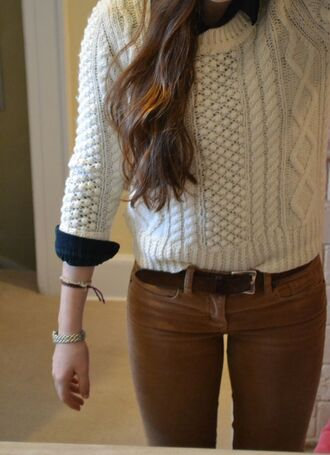 cable knit knitted sweater winter sweater winter outfits fall sweater fall winter fall 2014 neutral neutral colors cardigan top sweater pants