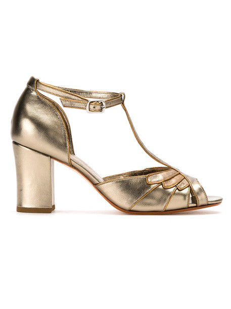 Sarah Chofakian metallic women pumps leather grey shoes
