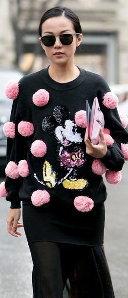 sweater @black sweater mickey