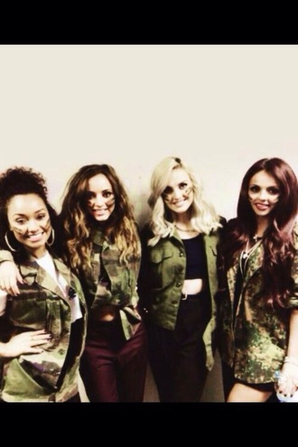 jacket little mix perrie edwards jesy nelson jade thirlwall leigh-anne pinnock camouflage camo jacket