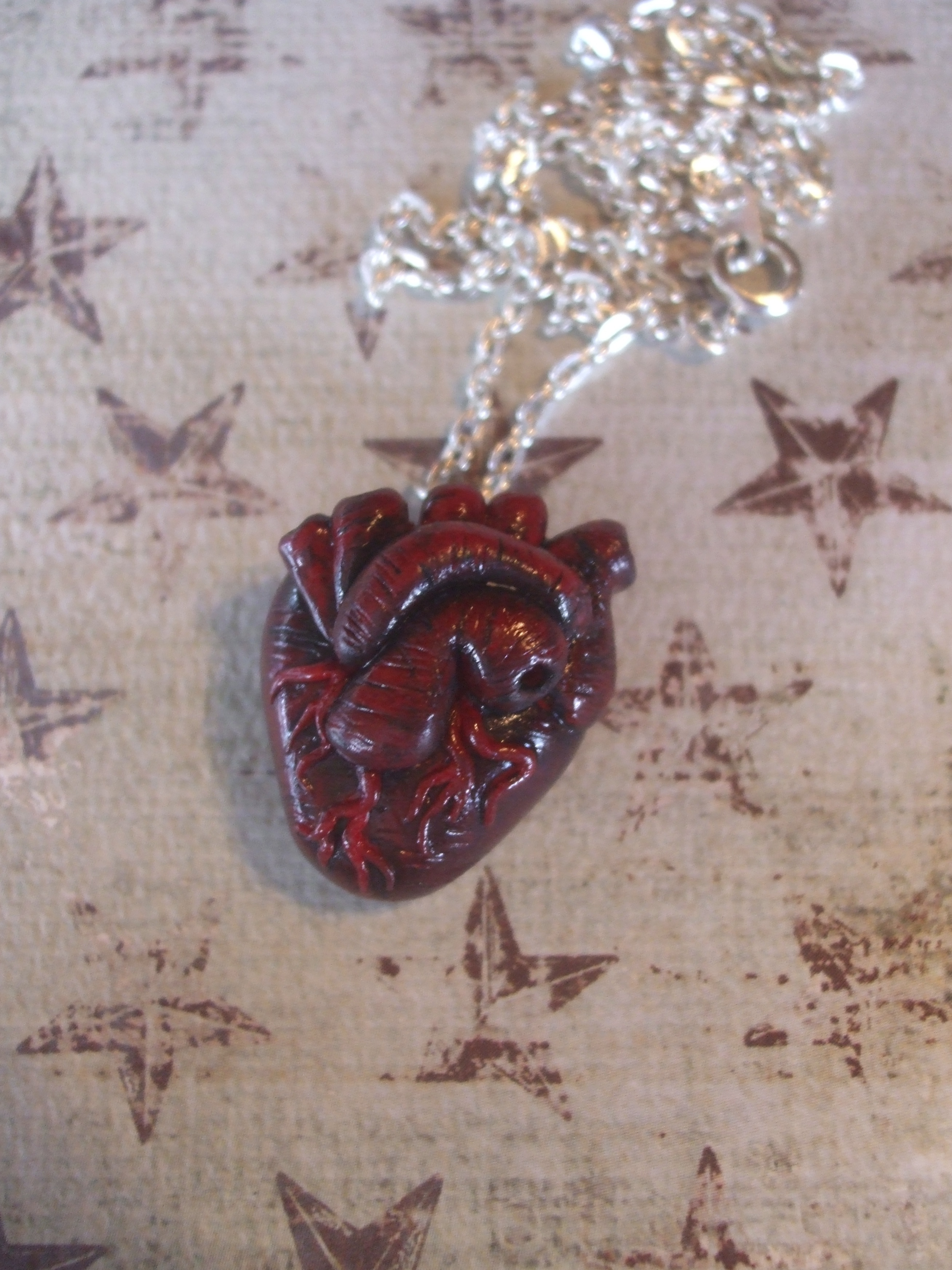 Anatomical heart necklace from sierra falconer art on storenvy