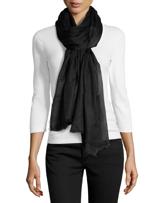 Cashmere Oversize Scarf, Black
