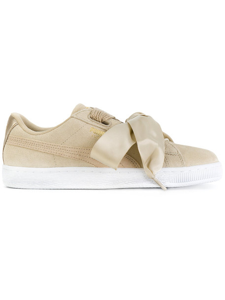 puma heart women sneakers nude suede shoes
