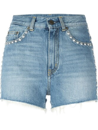 shorts denim shorts studded denim shorts denim studded blue