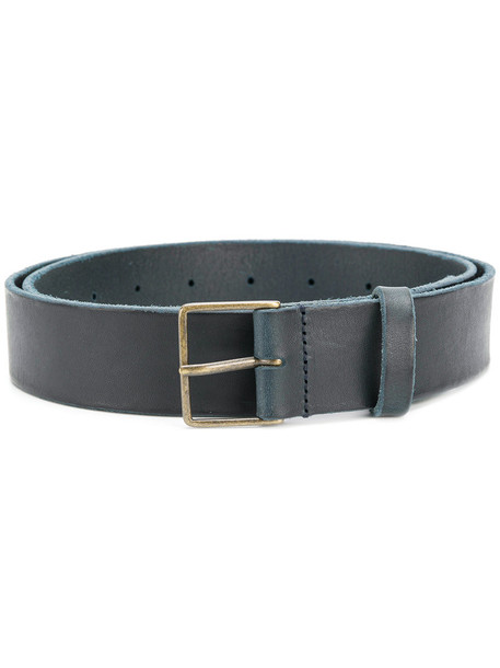women classic belt leather blue