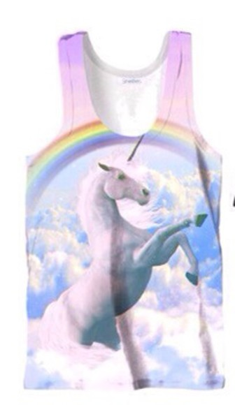 rainbow unicorn top fantasy
