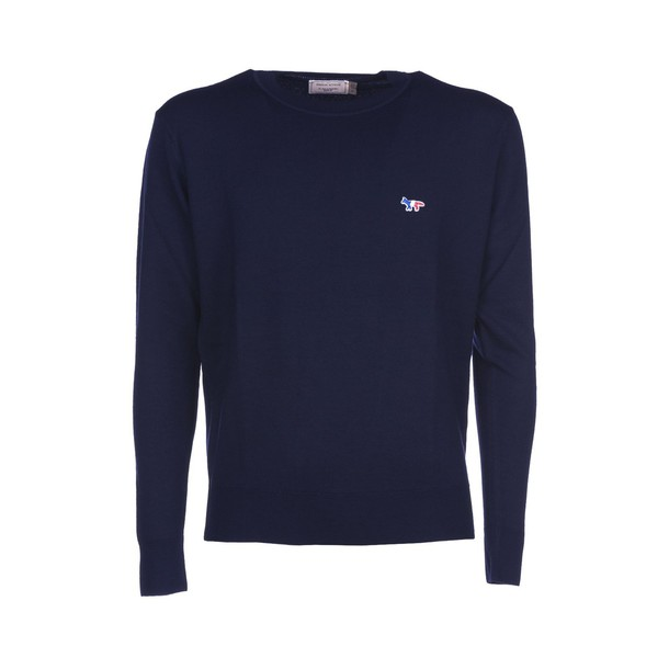 kitsuné pullover navy sweater