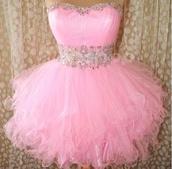dress,short pink dress,ruffle,gorgeous