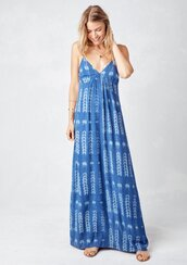 dress,summer dress,beach dress,tank dress,mudcloth,mudcloth dress,back detail dress,boho babe,boho chic,summer,beach,sleeveless dress,maxi dress,blue maxi dress,printed dress,bohemian,blue,blue dress
