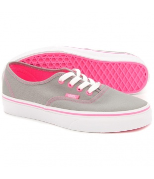 Vans authentic (multi pop) frost grey/pink