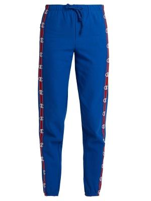 0c1521166 X Champion cotton-blend track pants | Vetements ...