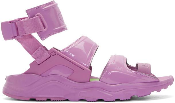 Nike sandals purple shoes