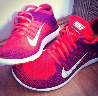 shoes red shoes red sneakers nike running shoes nike shoes nike free run running shoes style girls sneakers