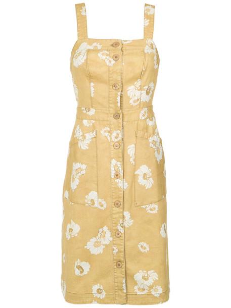Sissa dress print dress women daisy spandex cotton print