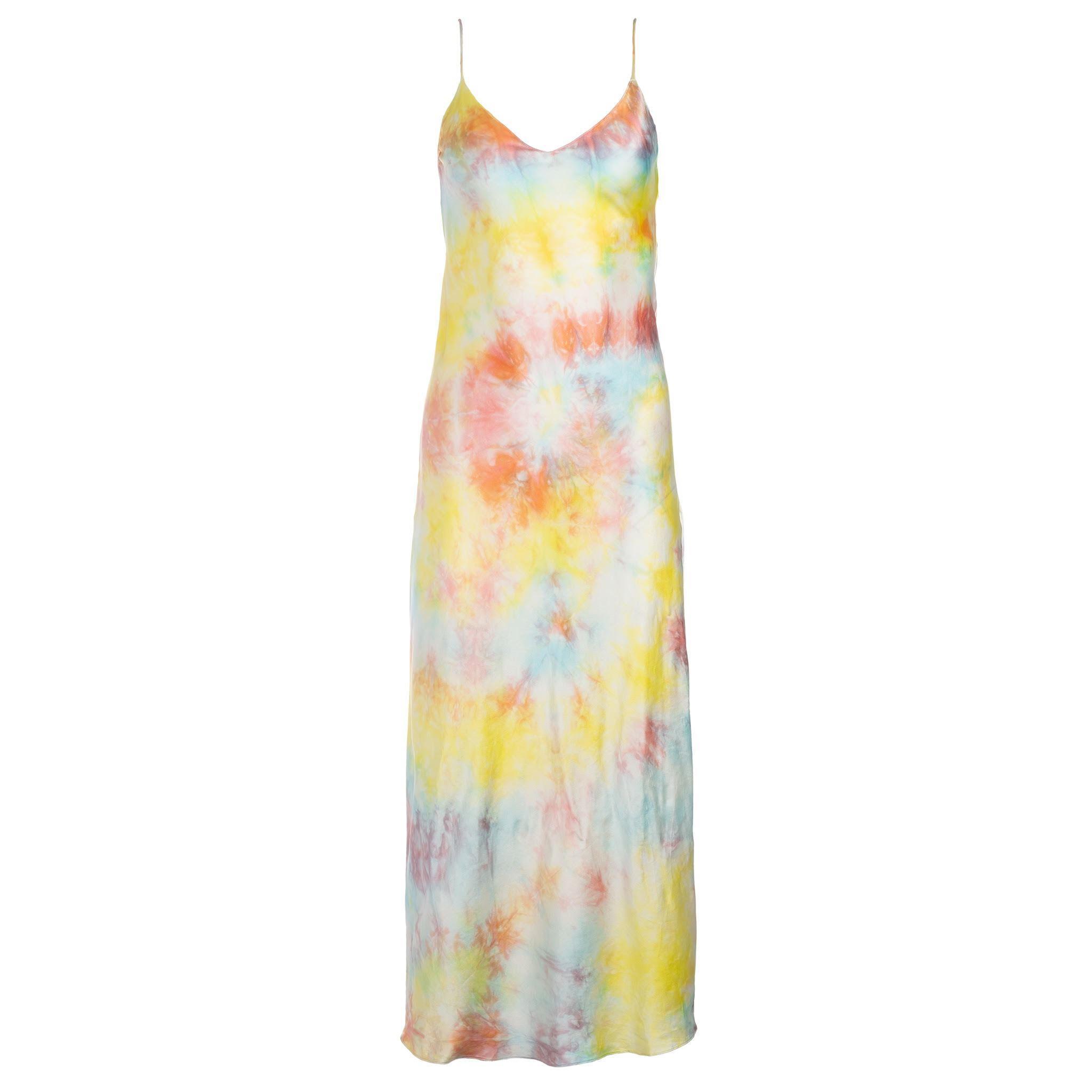 Dannijo Tie Dye Silk Slip Dress with Slide-Slit - 90s Redux