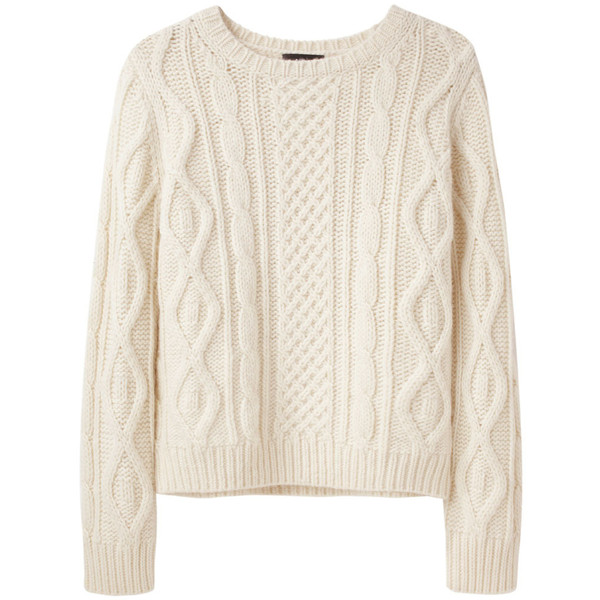 A.P.C. Irish Cable Knit Sweater - Polyvore