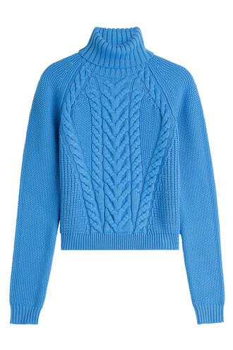 turtleneck wool blue sweater
