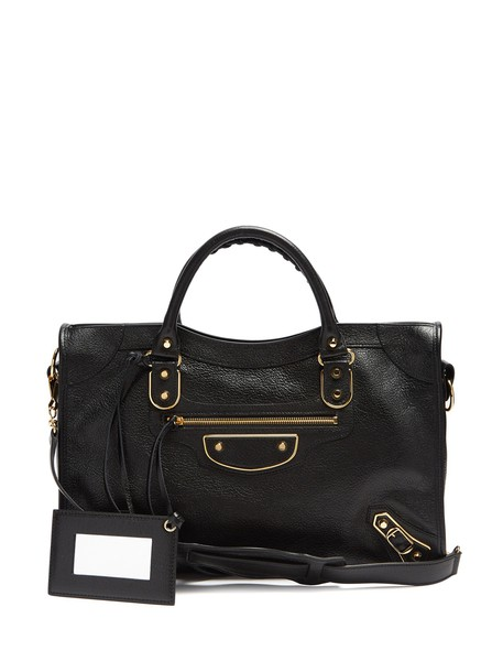 metallic bag black
