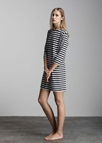 dress striped dress boat neck dress fair trade shift dress sustainable fashion organic cotton