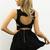Black Little Black Dress - Black Sleeveless Dress with Heart | UsTrendy