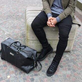 jeans maniere de voir biker rib pants black