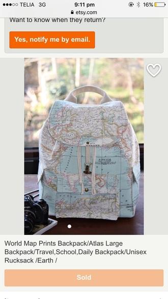 bag map print backpack