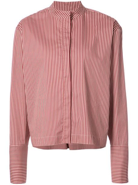 Dvf Diane Von Furstenberg shirt striped shirt women cotton red top