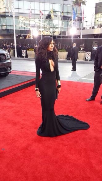 dress black long maxi naya rivera dress