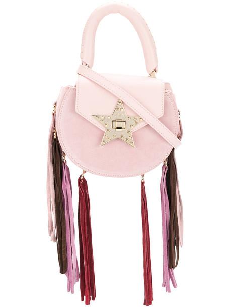 Salar mini women bag leather suede purple pink