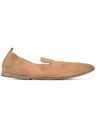 women shoes slip on shoes leather suede brown