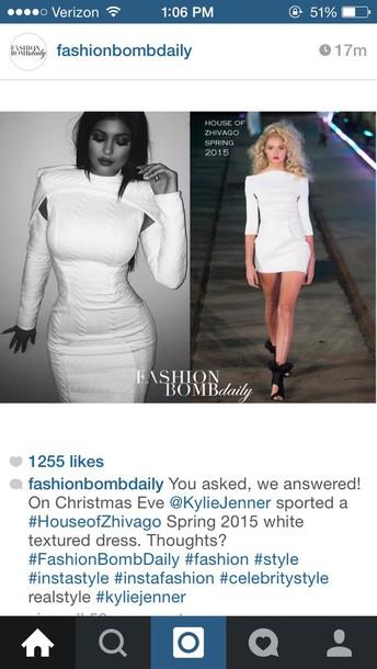kylie jenner white dress
