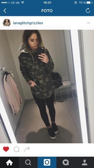 jacket army green jacket women