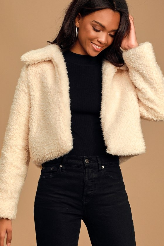 So In Love With You Ivory Teddy Jacket