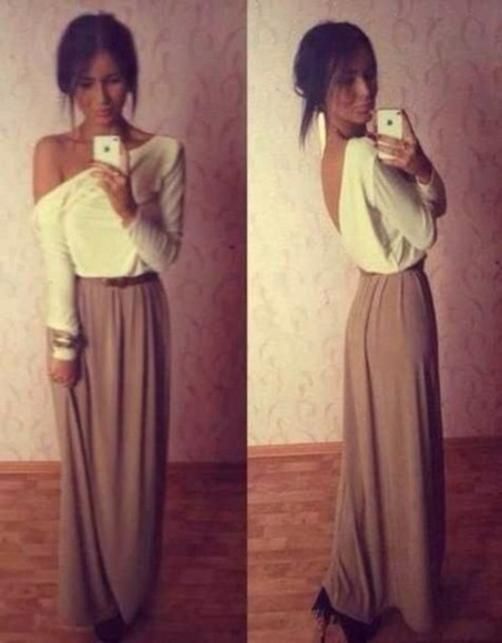iphone white dress maxi tan bracelet
