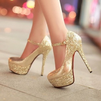shoes gold gold heels high heel pumps party shoes