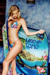 swimwear,blue,cover up,floral,womens sauvage,bikiniluxe