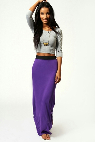 skirt purple dress purple purple skirt grey shirt cotton long skirt