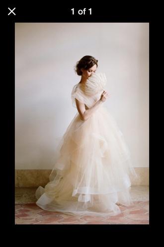 dress wedding dress tulle wedding dress cream