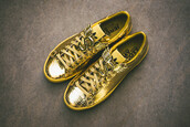 shoes,sneaker gold,high top sneakers,sneakers,adidas shoes,adidas,gold shoes,adidas jeremy scott