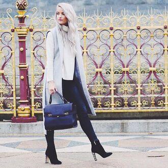 sweater white turtleneck revolve clothing streetstyle london fashion week