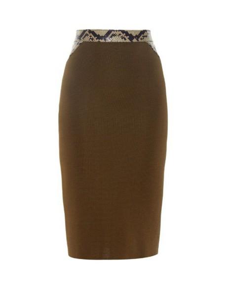 Givenchy skirt pencil skirt python khaki