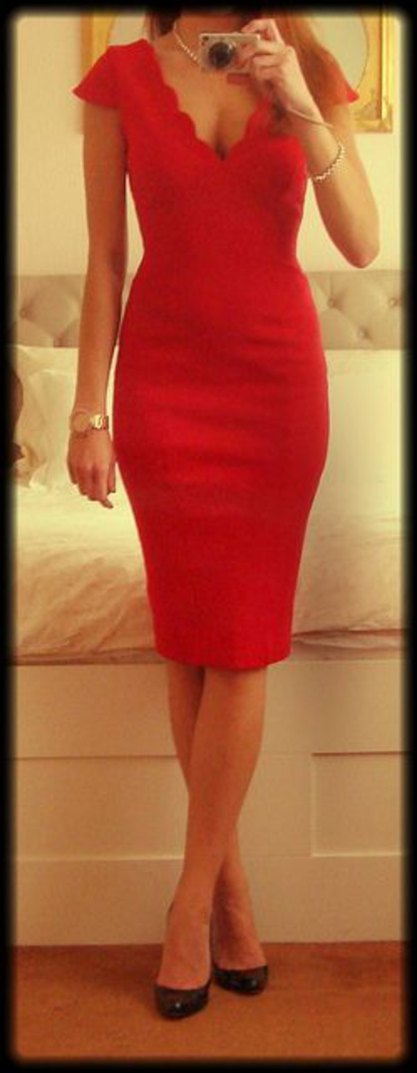 red dress bodycon dress little red dress v neck dress