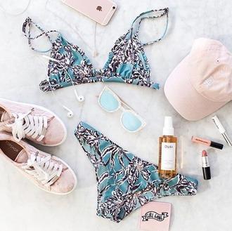 swimwear beach riot bikini blue floral bikini blue bikini floral bikini triangle bikini hipster floral boho chic boho swimwear boho chic swimwear boho bikini summer outfit summer outfits