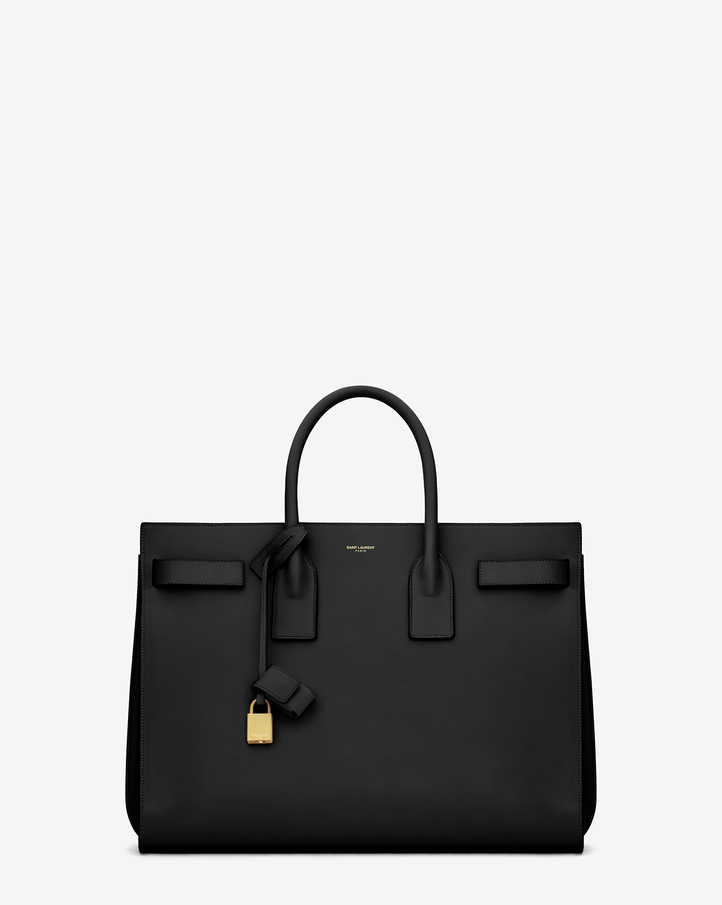 Saint laurent classic sac de jour bag in black leather